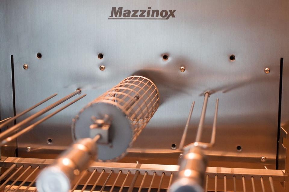 Automação para churrasqueira em inox